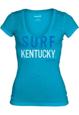 ACTION CUSTOM SPORTSWEAR : University of Kentucky Women's Slimfit V-Neck T-Shirt : University of Kentucky Bookstore : www.uky.bkstr.com