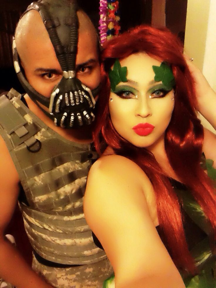 Poison Ivy and Bain Halloween Costume #halloween #poisonivy #bane  sc 1 st  Pinterest & 48 best Poison Ivy u0026 The Joker-costumes images on Pinterest | Sewing ...