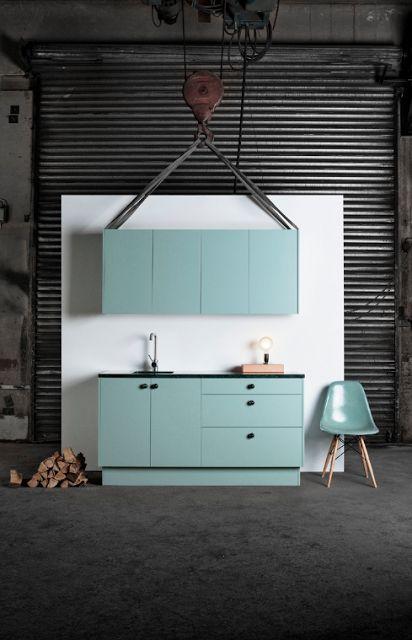 Superfront kitchen, aerugo green, kök, grönt, eames
