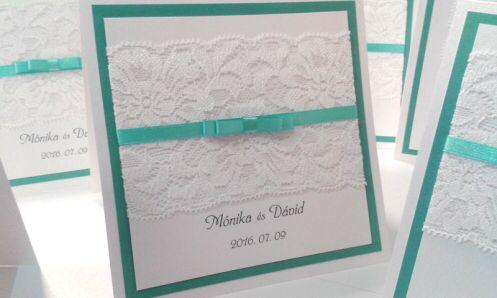 The best wedding mint green and white invitation card www.eskuvoimeghivok.eu