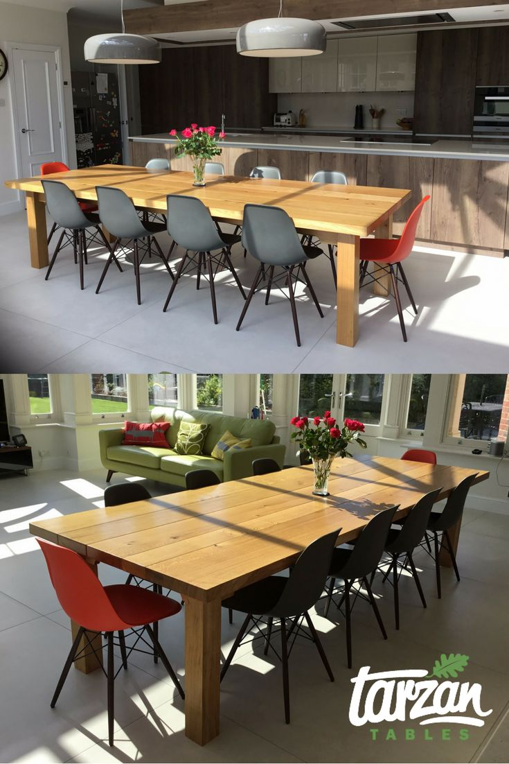 Some Customer Pics Of A Farmhouse Dining Table From Tarzan Tables See Our More At