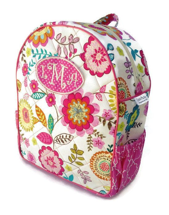 Girls Backpack Toddler Preschool Quilted