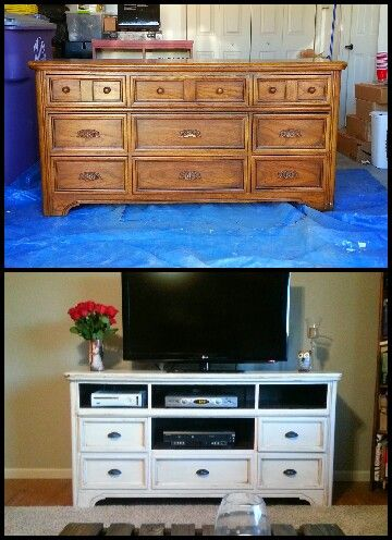 My dresser turned tv stand  Repinned by www.movinghelpcenter.com Follow us on Facebook!