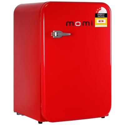 Deluxe Products Momi 110L Retro Bar Fridge - Red