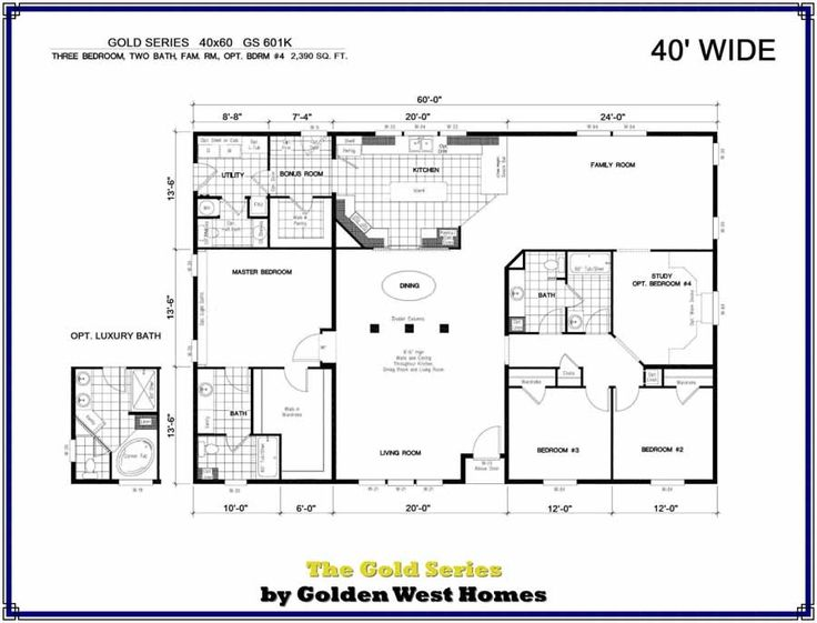 40x60 barndominium floor plans manufactured modular home for 40x60 house plans