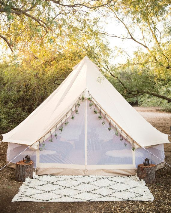 Join the Glamping Revolution!!!  Bell Tents are the Hipsters to the Camping World    Very fast to put up and take down  Can be erected by just one