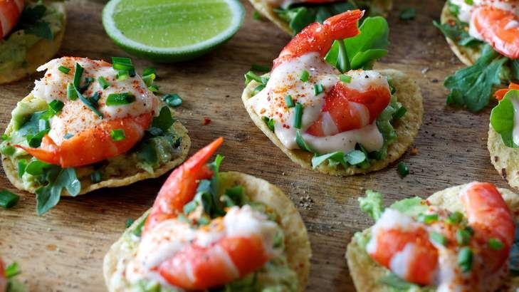32 best images about party food on pinterest mayonnaise for Prawn cocktail canape