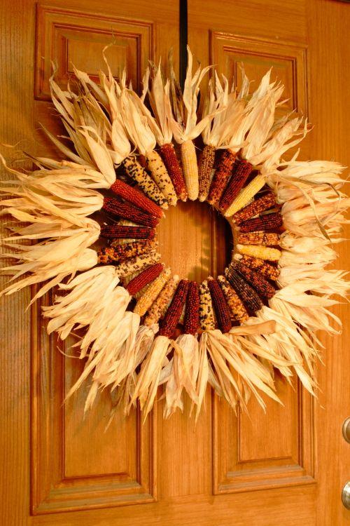 diy Indian corn wreath for Fall