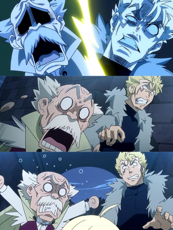 Gramps & Laxus freaking out over First Master Mavis crying