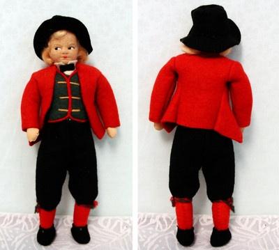 Excellent Ronnaug Petterssen Felt Doll Hardanger Man   eBay