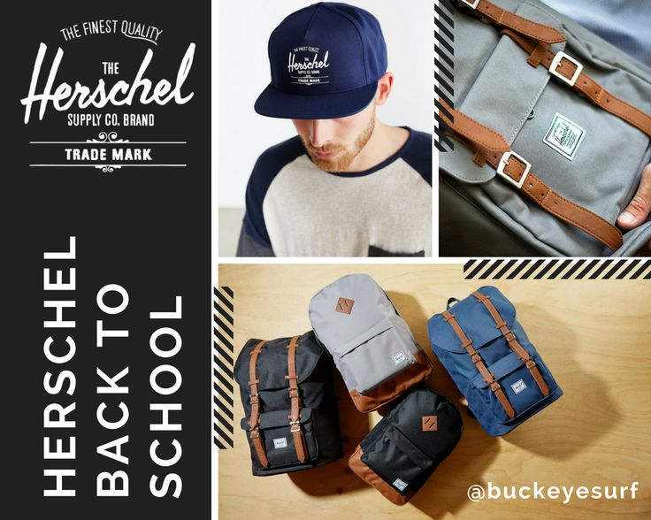 Head back to school in style with Herschel backpacks at Buckeye Surf!