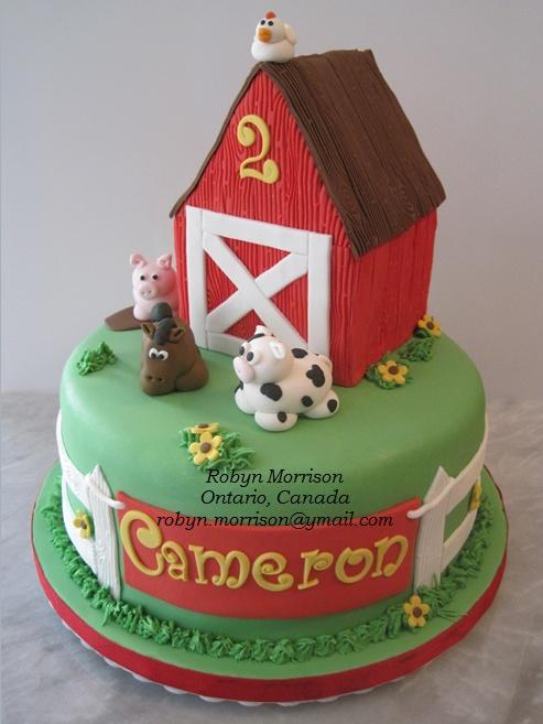 Cake Decoration Farm Theme : Farm theme birthday cake! The Sugar Fairy Cakes ...
