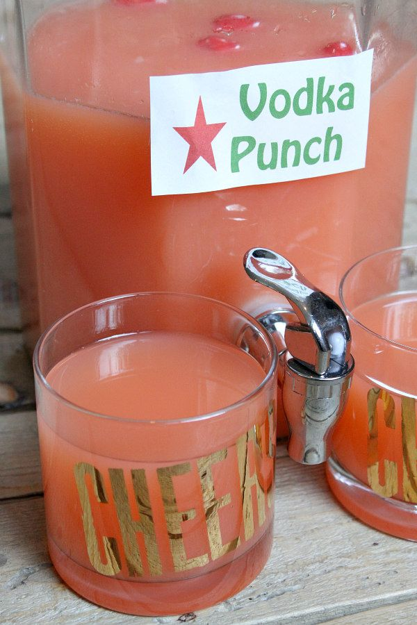 Easy Vodka Party Punch recipe - from RecipeGirl.com - great recipe for a New Year's Eve party!