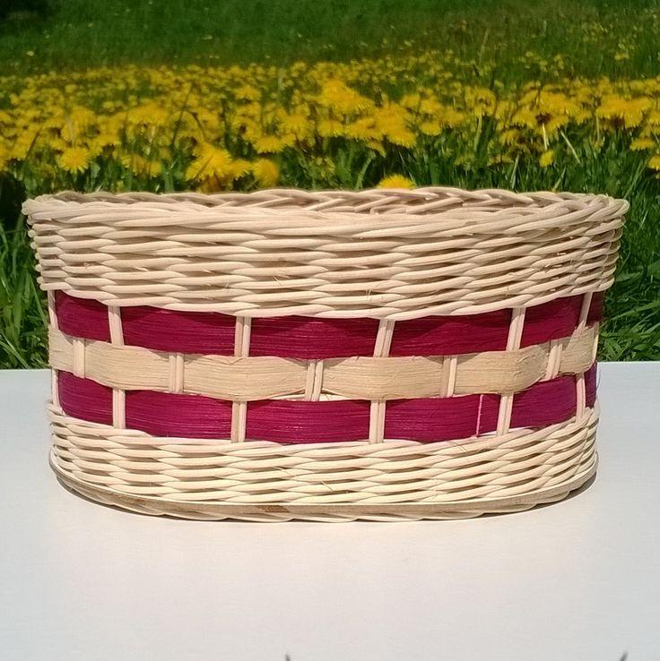 Košík z pedigu s vínovou šénou