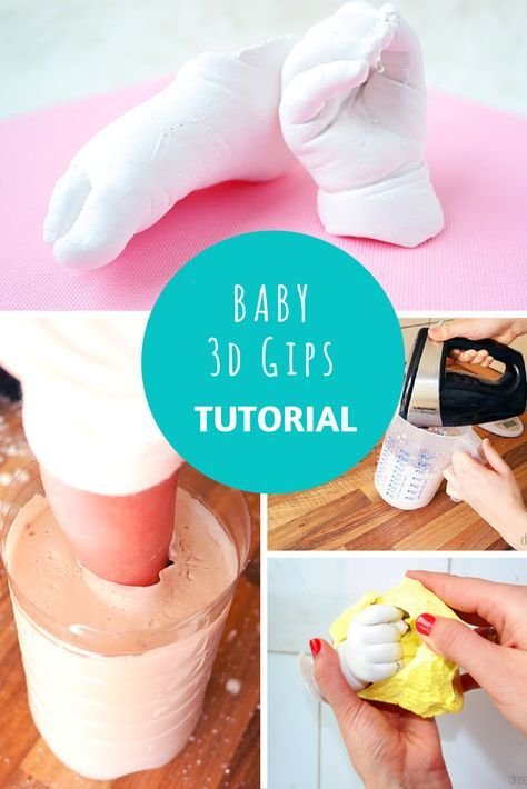 3D Gipsabdrücke vom Baby oder Kind selbst machen. Eine schöne Möglichkeit, um Babyhände oder -füße als Abdruck zu Verewigen. Der Babyabdruck eignet sich super als Geschenkidee. Hier geht es zum DIY: