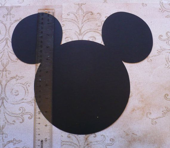 Made using Cardstock by Recollections (Michaels craft store brand) you will receive:  1 Black Minnie Head Shape just like the one in the picture. The head shape is just a little bit over 11 inches across (from ear to ear) Plus 12 Medium Pink shade Bow (smooth, regular cardstock)  Use to Play PIN THE BOW ON MINNIE game you can write a childs name on the cardstock bow, attatch a piece of double sided tape to the back of the bow & play Pin the Bow on Minnie!!  I have this listed in my store ...