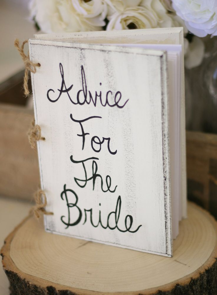 Bridal Shower Guest Book Shabby Chic Wedding Decor by braggingbags. $32.50, via Etsy.