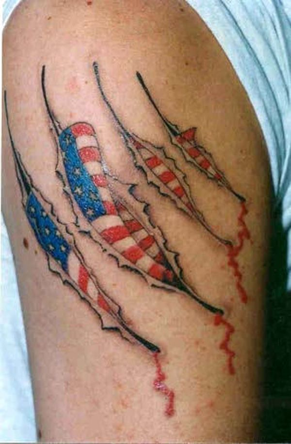 25 awesome american flag tattoo designs flag tattoos american flag tattoos and awesome. Black Bedroom Furniture Sets. Home Design Ideas