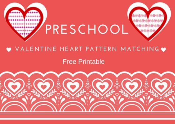 Fun Activities for Children: Valentine Heart Pattern Matching