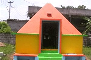 Sri Sakthi Pyramid Meditation Center year of construction : 2012 size : 12ft x 12ft (roof top) | capacity : 28 persons cost incurred :  1 lakh | type of structure : RCC timing : 24x7, open for public use technical support : B Sathish contact :  J Baskar, mobile : +91 99668 46729 address : Krishna talkis road, Suryapeta, Nalgonda district http://www.pyramidseverywhere.org/pyramids-directory/telangana/nalgonda-district  #Pyramid #Pyramids