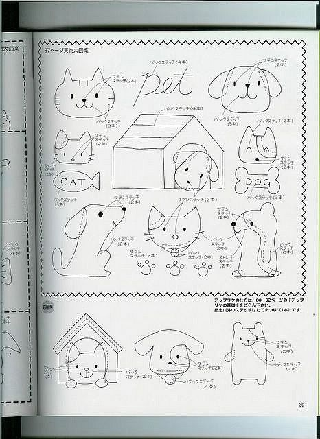 template for doggies and dog house