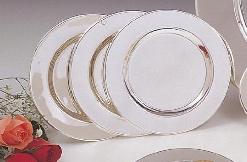 "SET OF FOUR 6"" SILVER PLATED PLATES by Leeber. $26.11. SET OF FOUR 6"" SILVER PLATED PLATES"