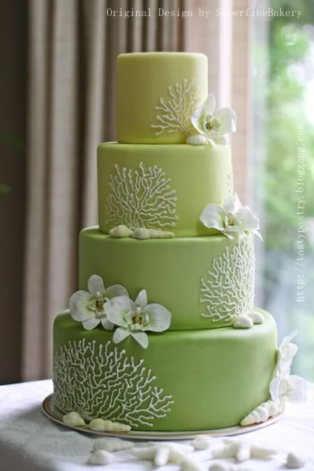 376 best Beach Wedding Cakes images on Pinterest Biscuits
