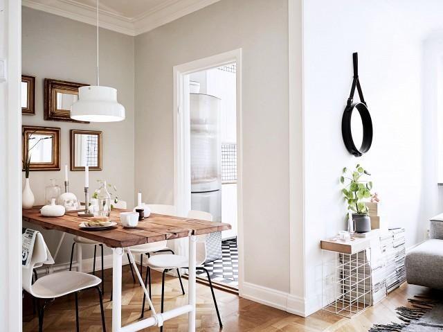 Estilo y elegancia en este pequeño apartamento Parisino