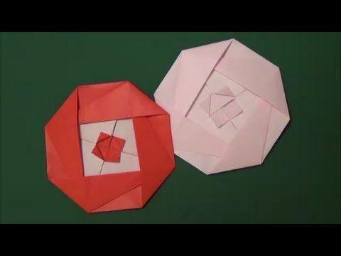 折り紙の椿(つばき)【簡単な折り方はコレ!葉も作ってみました】 | おりがみぶろぐ