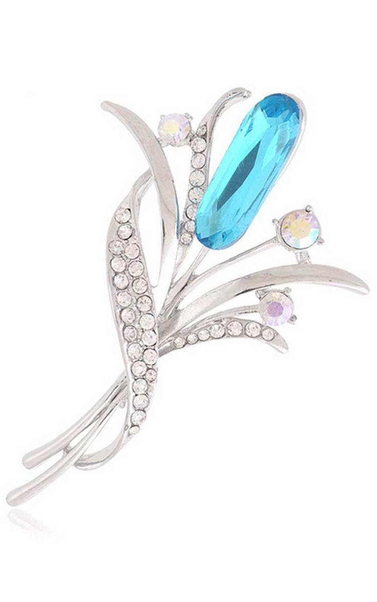 """1853 Брошь """"Топазовый цветок"""" с кристаллами Сваровски http://ismailovashop.com/1853i.1853_Brosh_Topazovyy_cvetok_.htm"""