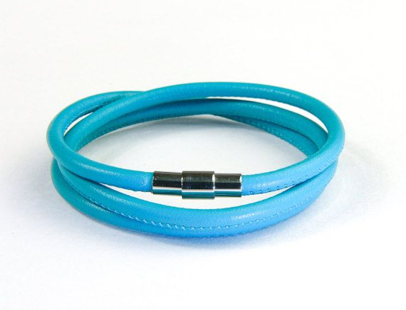 Triple Wrap Genuine Lamb Leather Bracelet with by AltGoodDesign