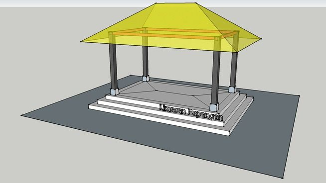 Rumah Jawa - Limasan Bapangan - 3D Warehouse