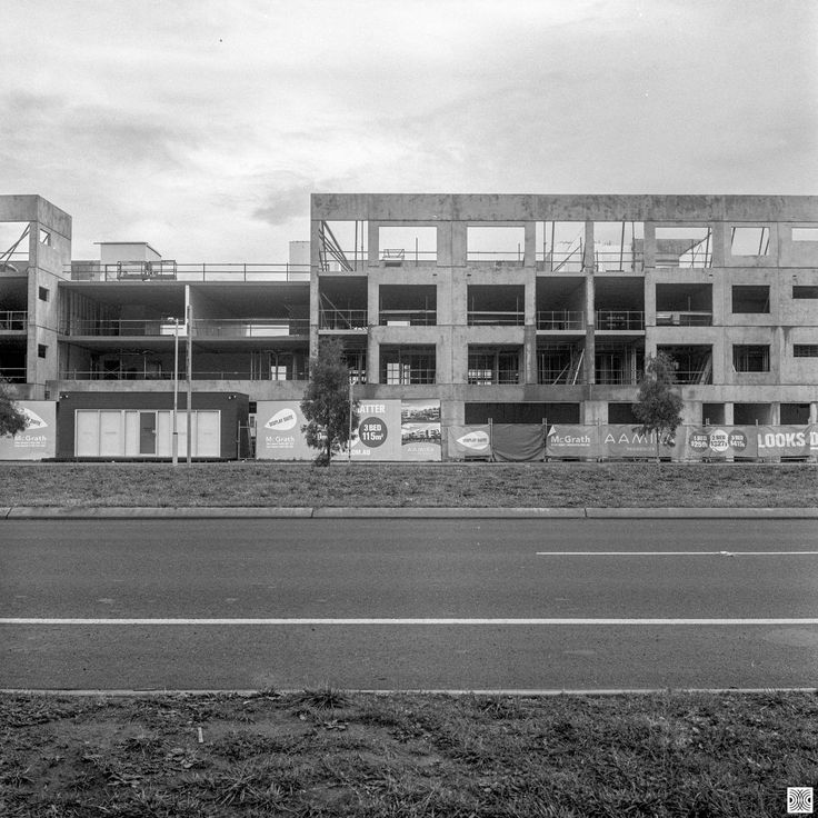 https://flic.kr/p/FcVtmX | City | My Canberra - on film mainly around Gungahlin, back in 2014  ... new buildings on Flemington Road...  Yashica Mat 124, Kodak T-Max 100  www.pavelvrzala.com