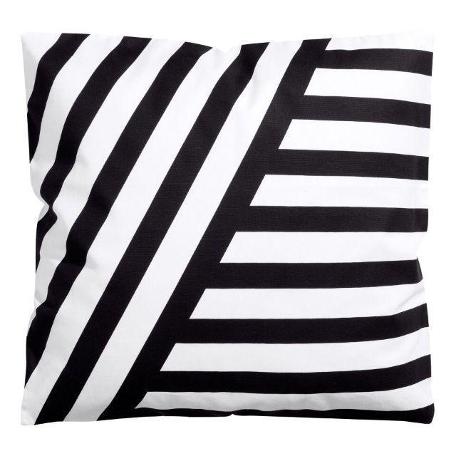 Unique Striped Black and White Pillow
