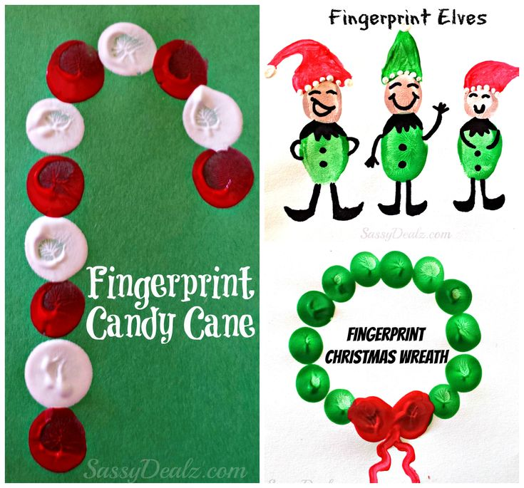 Find lots of Christmas fingerprint crafts and art projects for kids at this website! Fun and cheap winter crafts! #Christmas crafts for kids   CraftyMorning.com