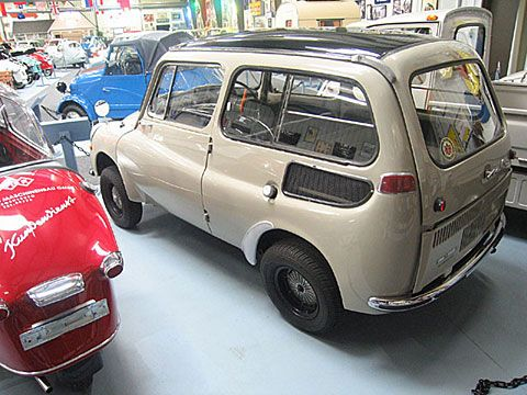 """1967 Subaru 360 Custom. Japanese automobile manufacturers were working on developing small cars according to a plan calling for the production of a """"people's car"""" as advocated by Japan's Ministry of International Trade and Industry. The Subaru 360 was developed in line with this concept. In those days, passenger cars were too expensive to be within the reach of most people."""