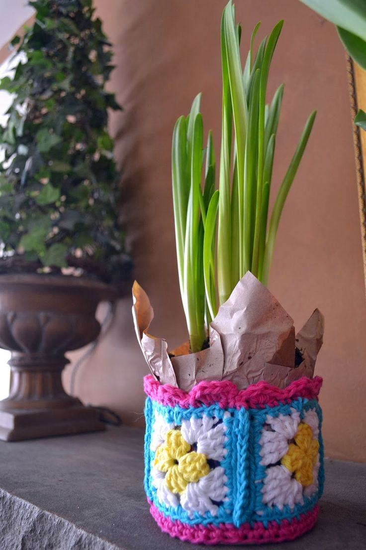 Fresh Flowers, Crochet Tins and Roasted Soup ~ Inspiration