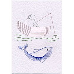 Fishing | Cars, Boats, Planes patterns at Stitching Cards.