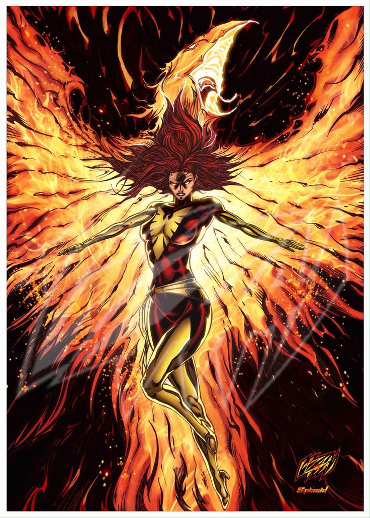 "Dark Phoenix (digitally colored) ""From the ashes, she'll rise again!"" This full color interpretation of Dark Phoenix is drawn by artist Franck Uzan (FUZart) and amazingly digitally colored by Splash Colors. Witness this legendary Marvel character and one of the most beloved X-men female character ever ""unleashing the Phoenix power"" in this full color glory classic shot. Dark Phoenix was created in 1980 as the third alteration of Marvel Girl/Phoenix during the ""Dark Phoenix Saga"".The image is…"