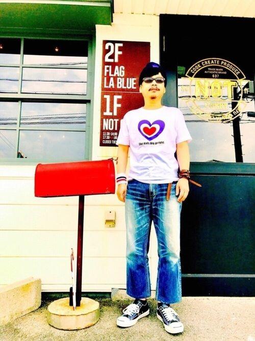 TシャツはPCでターゲットマークを加工しアイロンプリント。パンツはヤフオク1000円、丈詰め1200