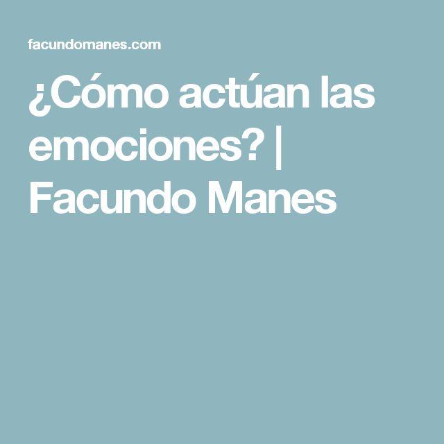 ¿Cómo actúan las emociones? | Facundo Manes
