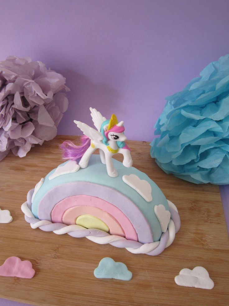 My little pony, rainbow cake by Moma. Tips et astuces cake pastel