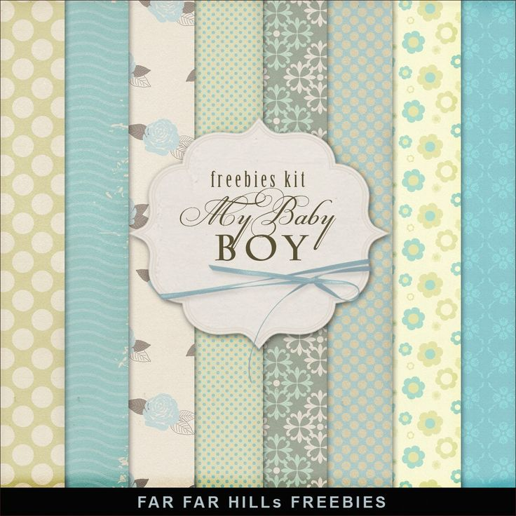 Far Far Hill: New Freebies Kit - My Baby Boy