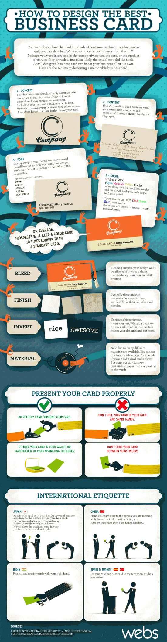 134 best etiquette images on pinterest tags dining etiquette and create memorable business card understand how to properly present your card and a few colourmoves