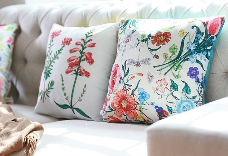 ¡#Flores en #invierno! Con el estilo #Garden es posible. #Cojines #Colores #Living