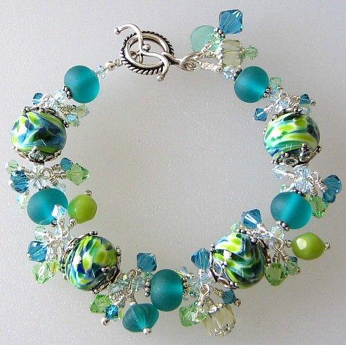 Handmade Bracelet Lampwork Sterling Silver by PacificJewelryDesign
