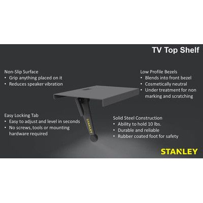 "Stanley Tools Universal TV Top Shelf Size: 4.1"" H x 12.5"" W x 0.8"" D"