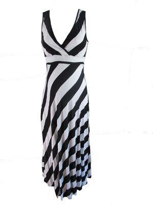 Black and White Diagonal Stripe Maxi by QT Maternity - Maternity Clothing - Flybelly Maternity Clothing