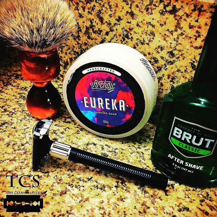 "#SOTD: 3/15/2017 - ""The Ides""  Pre: Hot shower Brush: @brushguy_com ""Noah"" 3-band Silvertip Soap: @archaic_alchemy ""Eureka"" Razor: Feather travel TTO w/ Wilkinson blade Post: @brut Classic Aftershave  Beware the Ides of March he was told. I dunno... It was pretty awesome for me.  #BeSmooth and #shaveitup everyone!  #wetshaving #wetshaveloyalists #brushguy #badgerbrush #archaicalchemy #eureka #feathertravelrazor #brut #headshave #baldandbabyfaced #shavedhead #shavelikeaman #thecleanshaver"