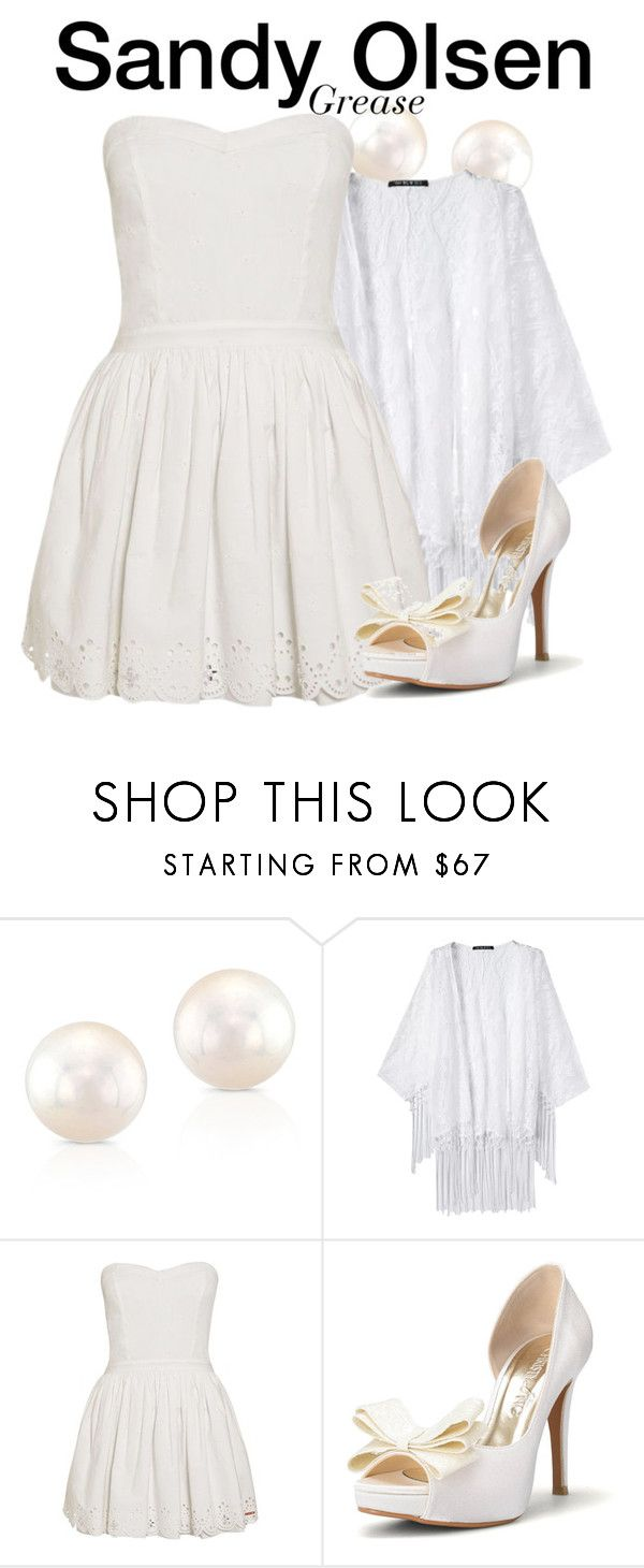 """""""Sandy Olsen - Grease"""" by nerd-ville ❤ liked on Polyvore featuring Anne Sisteron and Superdry"""